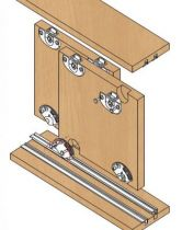 Ferrure de portes coulissantes bois séries 310/23 - 43 kg