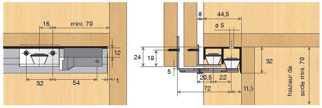 Ferrure de portes coulissantes bois top Line 22