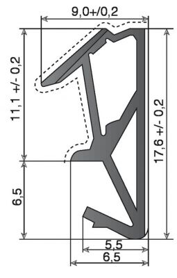 SV712F - largeur de rainure 4 à 4,5 mm - profondeur de rainure 8 mm