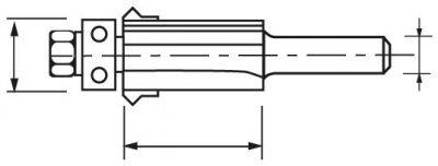 Mèche d'affleureuse avec rainure au joint en V - carbure 2 coupe avec guide à billes