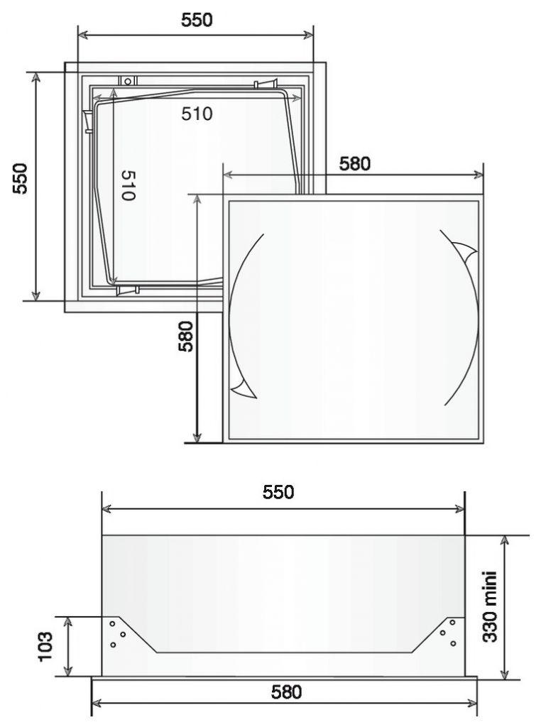 Trappe de plafond isolée