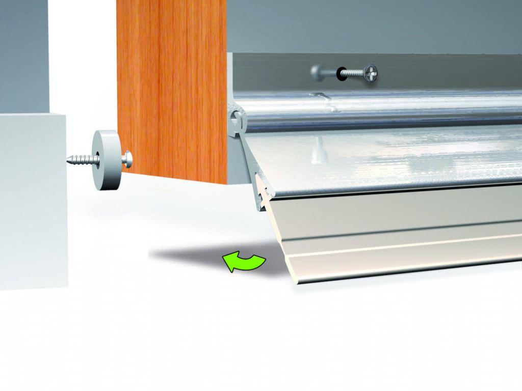 Plinthe anti vent aluminium port - O - Mat 3 vrac