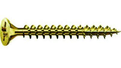 Vis à bois aggloméré - acier bichromaté - filetage total - Spax standard