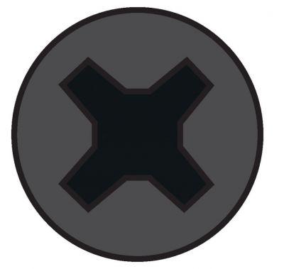 Vis plaque de plâtre - acier phosphaté noir - pour ossature bois