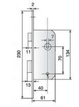 Série D10 Vachette - têtière bouts ronds - sans gâche