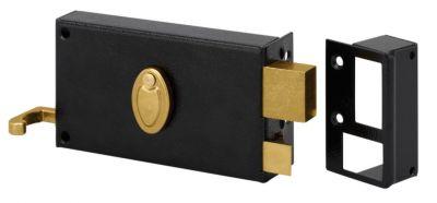 Sûreté à 4 gorges Métalux horizontale à tirage - 2 clés