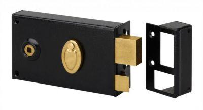 Sûreté à 4 gorges Métalux horizontale à fouillot - Carré de 6 mm - 2 clés