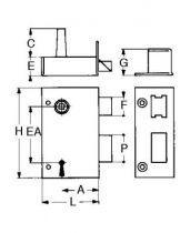 Sûreté à 4 gorges extra plate verticale à fouillot - Carré de 7 mm - 2 clés - 72 variures