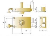 Sûreté à cylindre rond JPM Véga horizontale à tirage