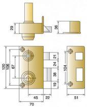 Sûreté à cylindre rond JPM Véga verticale à fouillot - Carré de 7 mm