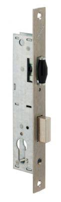 À larder têtière inox Métalux 1 point - série 92 MTX - 880 pêne dormant et rouleau réglable