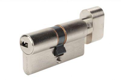 Cylindre double à bouton Bricard Serial pour portes coupe - feu