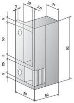 Gâche applique en aluminium laqué