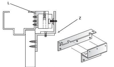 Kit de fixation pour ventouse en applique l & Z