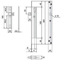 Serrure pêne piston 12 - 24V