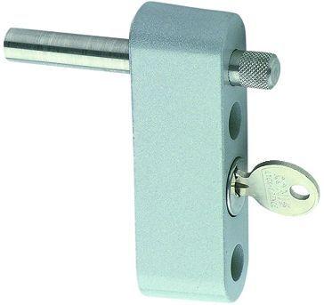 Verrou limiteur d'ouverture à clé pour fixation en applique