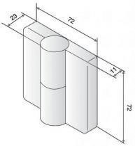 Paumelle TB 78 Nylon - Sans ressort, axe acier