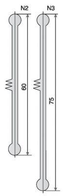 Joint caoutchouc et profil alu anodisé BB2/N