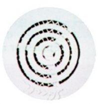 Grille ronde contre - cloison