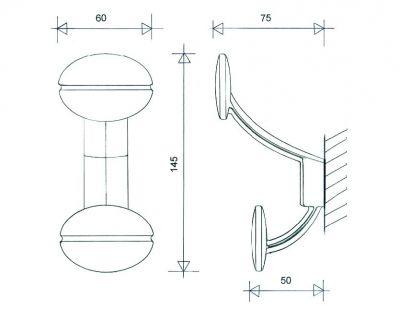 Porte vêtement seul aluminium poli