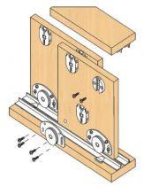 Ferrure de portes coulissantes bois séries 320/25 - 40 - 55 kg