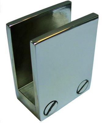 Pince en aluminium pour verre - aluminium anodisé mat.