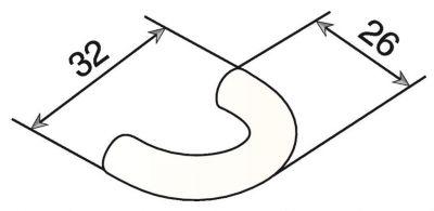 Poignée courbe nylon ø 9 mm