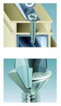 Acier - filetage total - tête fraisée réduite Philipps - pour menuiserie PVC