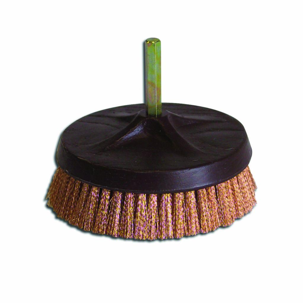 Brosse rotative axiale - 6 pans de 8 mm