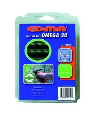 Outils pour clôture agrafes Omega 20 - boîte de 1000 agrafes