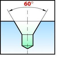 Foret à centrer HSSE - cobalt angle 60° - forme A