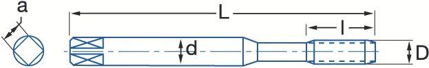 Tarauds machine HSSE - gaz cylindrique BSP