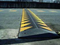 Ralentisseur zone privée jaune et noir