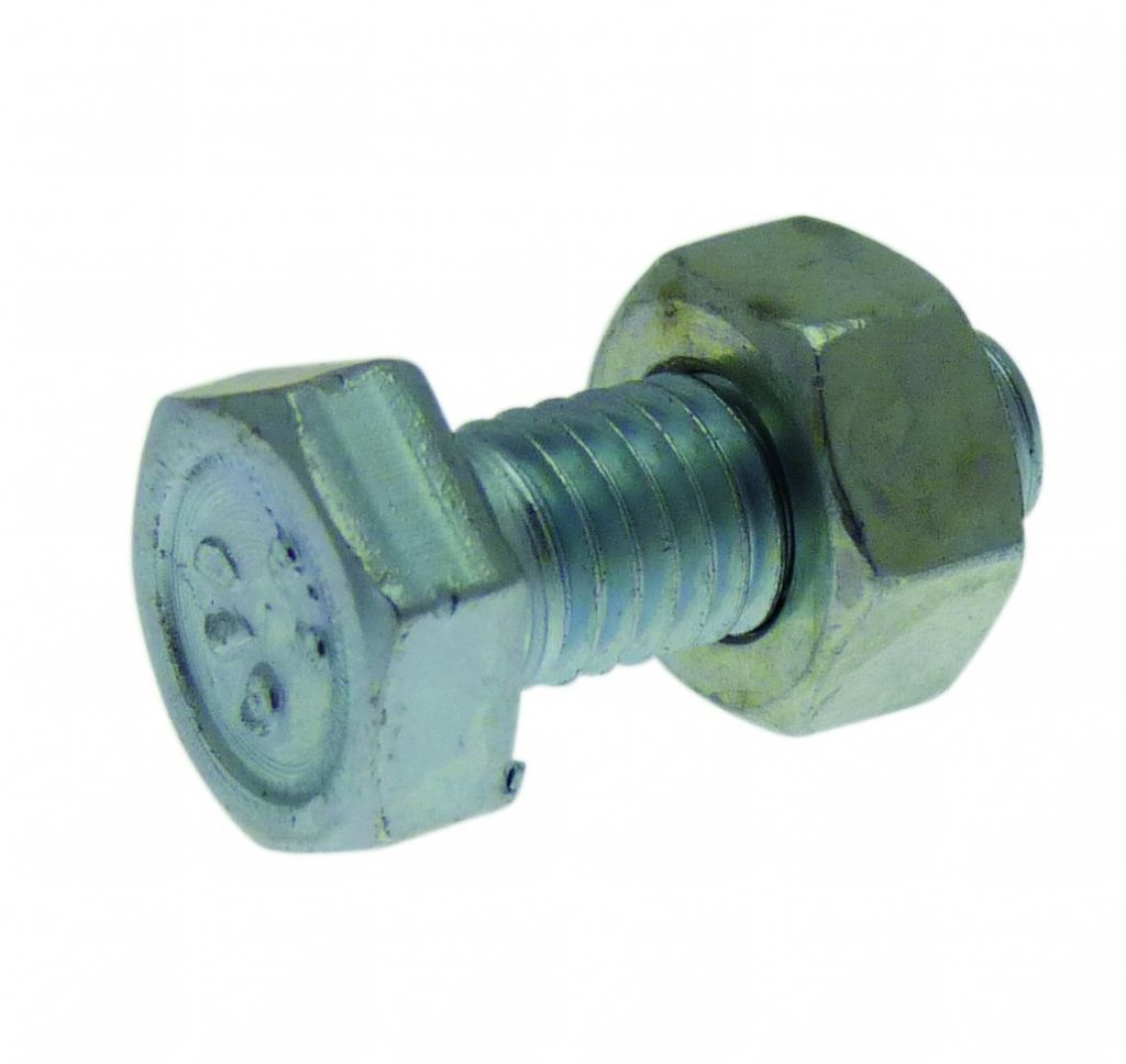Boulon acier zingué - ISO 4017 - classe de résistance 6-8