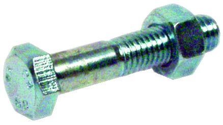 Boulon acier zingué - ISO 4017 - filetage partiel - classe de résistance 6-8