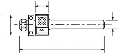 Mèche d'affleureuse 2 coupes à plaquettes carbure réversibles - avec guide à billes