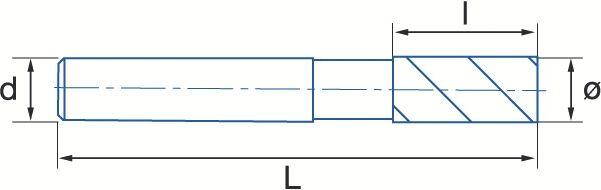 Fraise frittée ébauche NF - queue cylindrique Weldon