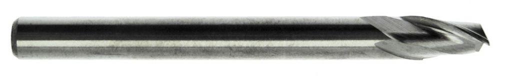 Fraise queue cylindrique 2 dents carbure pour aluminium
