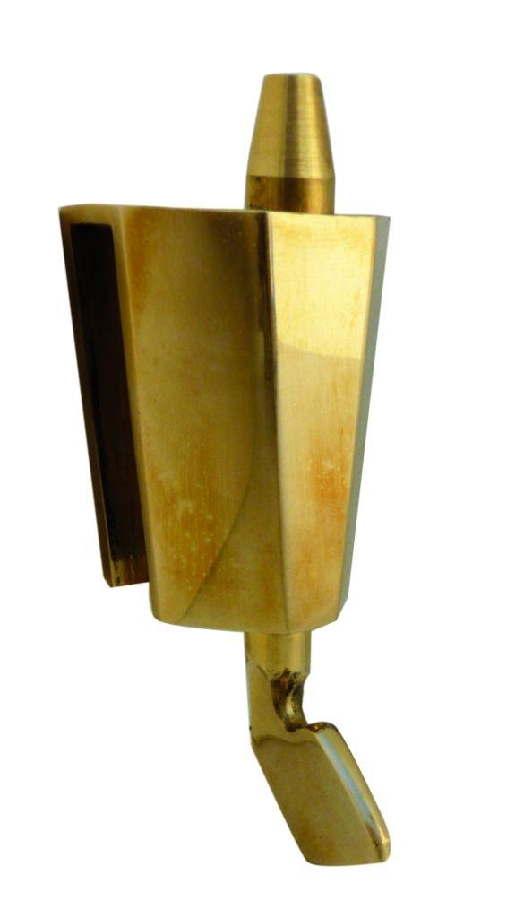 Loqueteau cavalier avec gâche sans encoche à tirette Pour glace de 8 à 10 mm d'épaisseur