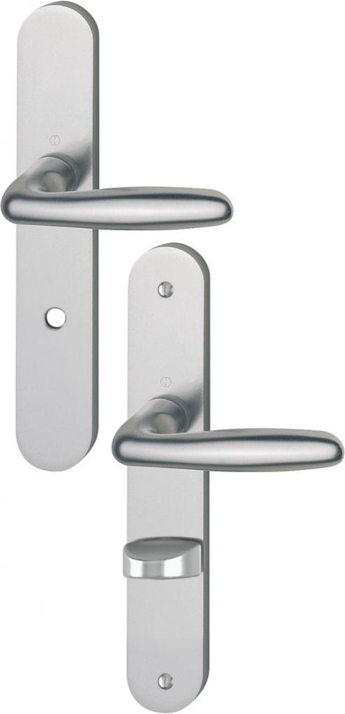 Ensemble Vérona - Plaque aluminium fondu 234 x 38 mm entraxe de fixation 195 mm