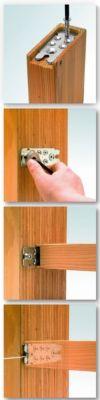 Mise en oeuvre avec encastrement en bois de bout