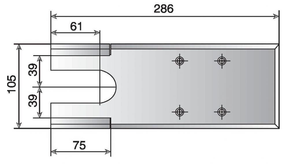 Pivot à frein BTS 75 V