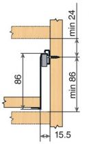 Sortie partielle Blum METABOX - charge dynamique de 25 kg