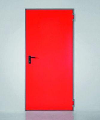 Porte 1 vantail réversible - ral 9010 gamme Univer