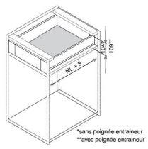 Tiroir LÉGRABOX hauteur M : 106 mm - gris orion mat