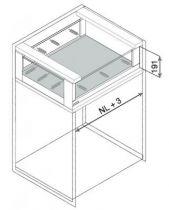 LÉGRABOX free hauteur C : 193 mm - blanc soie mat