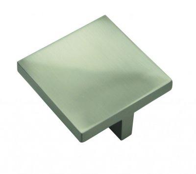 Bouton contemporain carré Mevania zinc