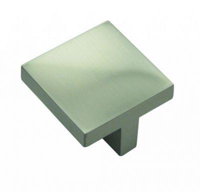 Bouton contemporain carré Messana zinc