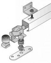Série cadette - Porte à déplacement droit sur profil tubulaire