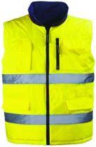 Gilet Hiway Vice-Versa haute visibilité - jaune/gris
